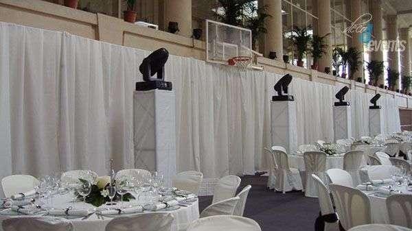 estructura per cortines de festa