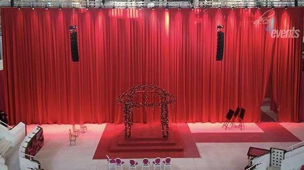 curtain rental for events