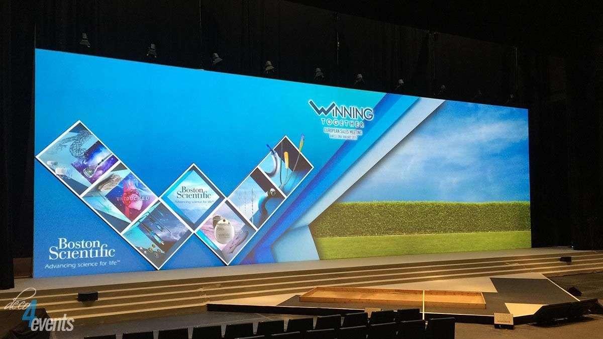 pantallas de proyección